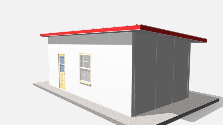288 sq ft 27 sq m 3D Model