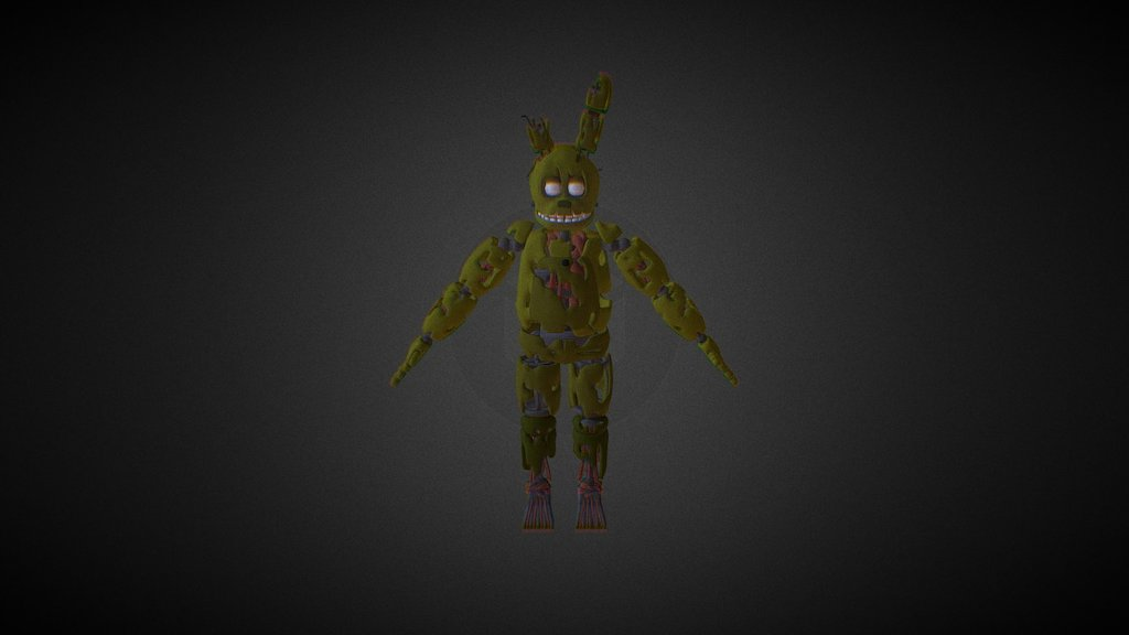 FNaF 3 Springtrap Model - Download Free 3D model by ...