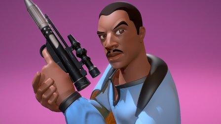 Star Wars - Lando Calrissian 3D Model
