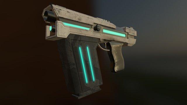 Cross Gate Machine Pistol 3D Model