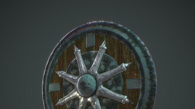 Shield High Poly 3D Model