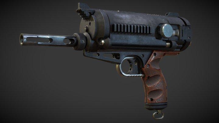 Fat Boy Flechette Revolver 3D Model