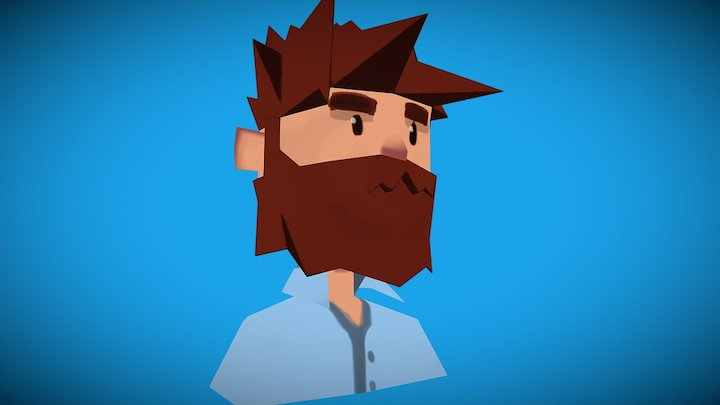 Beard Man 3D Model