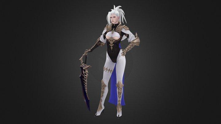 Sword Master 3D Model