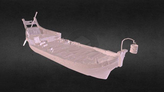 Funeral boat 3D Model