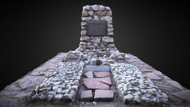 Buffilo Bill's grave on Lookout MT Golden, CO. 3D Model