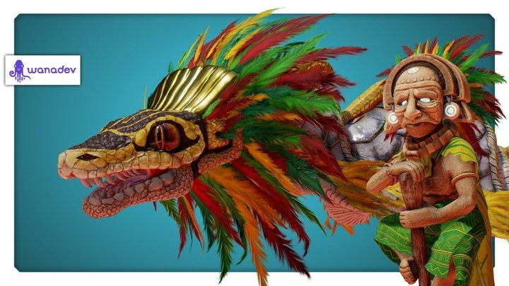 Yucatan - Quetzalcoatl & Huracan 3D Model