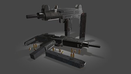 Uzi Israeli 9mm 3D Model