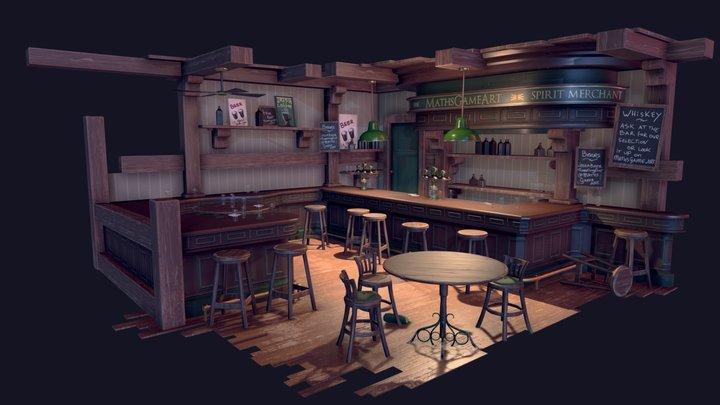 Irish Pub - PBR Diorama 3D Model