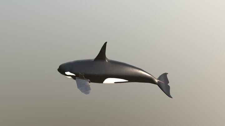 Orca with Robotic Flipper 3D Model