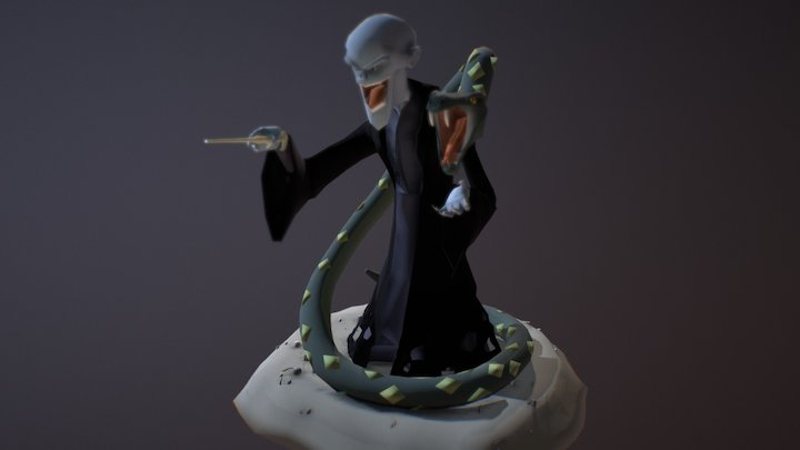 You Know Who - Lord Voldemort and Nagini 3D Model