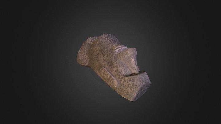 Moai Head 3D Model