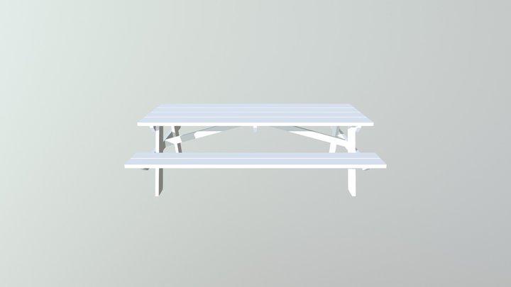 ZM Picnic Table 3D Model