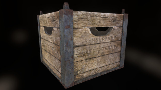 Old crate 3D Model