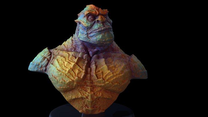 Lizars Soldier Color-Monster 3D Model