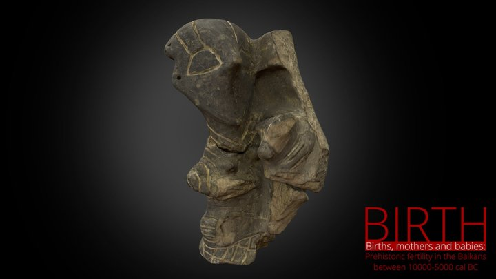 Relief-figurine of woman and baby 3D Model