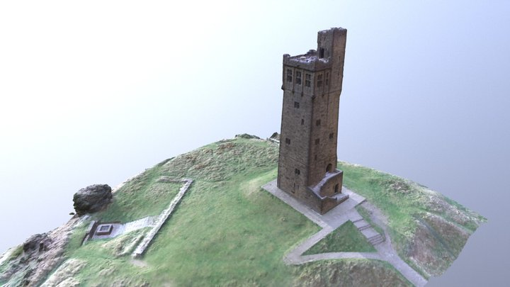 Castle Hill high detail. 3D Model
