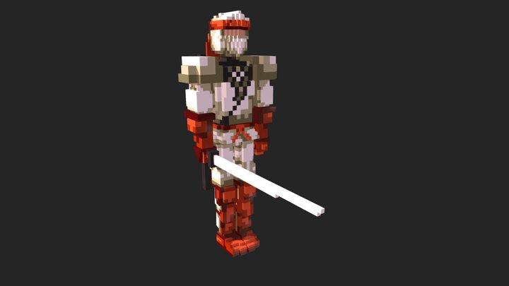 Shinobi voxel fanart 3D Model