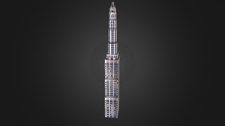Mather Tower - Chicago, IL USA 3D Model