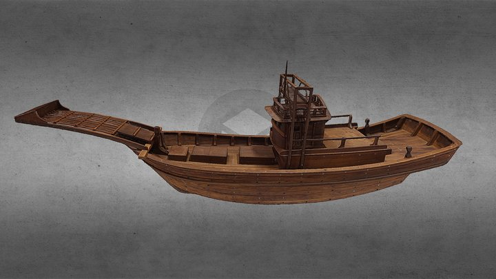 Istiophoridae Fishing Boat (旗魚船) 3D Model