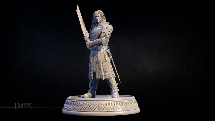 The Hobbit Figurines_KILI 3D Model