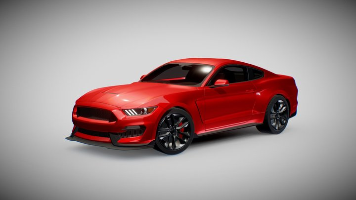 Ford Mustang GT-350R 3D Model