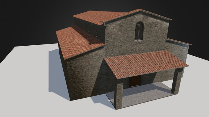 St. Stefano and St. Maria Curch (reconstruction) 3D Model