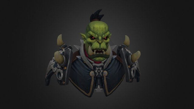 Orc general flabgut the terrible 3D Model