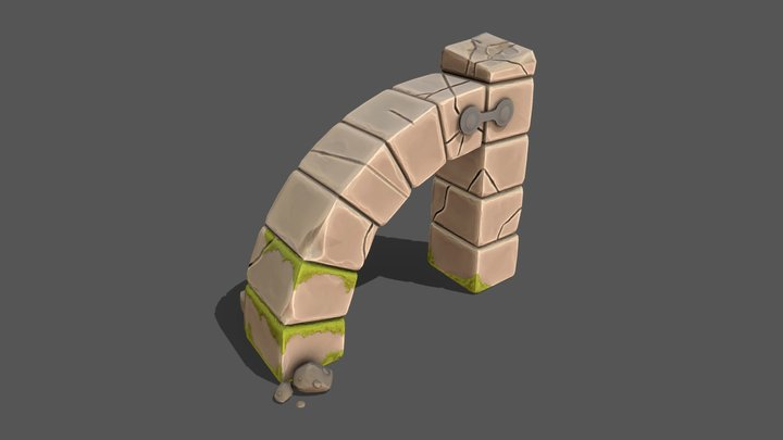 Aged Stone Structure 3D Model