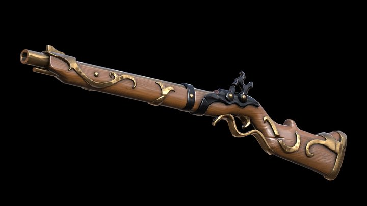 Sea of Thieves Musket 3D Model