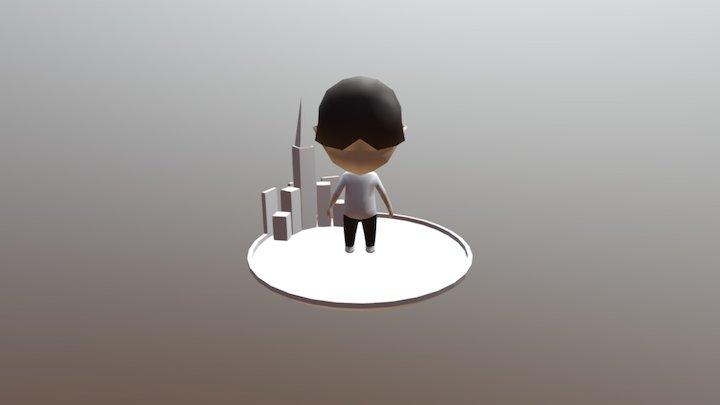 Bowlcut Character 3D Model