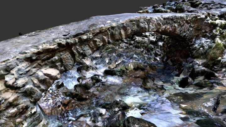 Stone Bridge at Rakov Skocjan Natural Park - HQ 3D Model