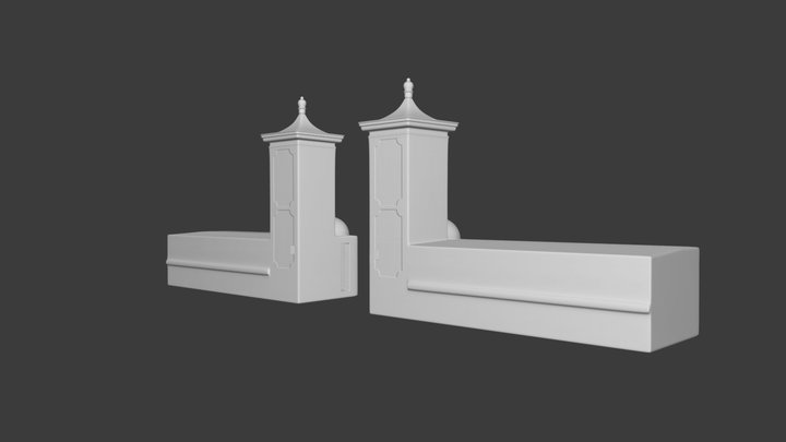 A Model Of St. Augustine Florida's City Gate 3D Model