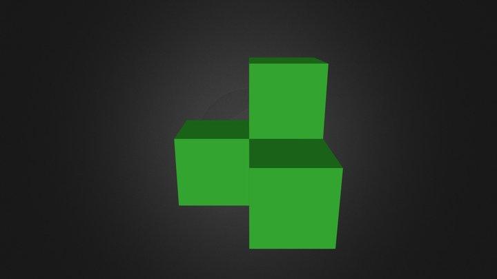 green cube 3D Model