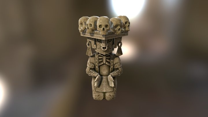 Mayan statue [Gods Don't Bleed] 3D Model