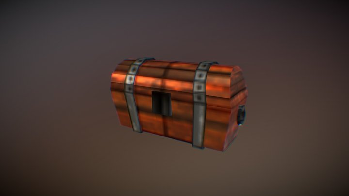 low poly chest - Ashe Bosworth 3D Model