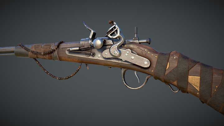 Flintlock Rifle 3D Model