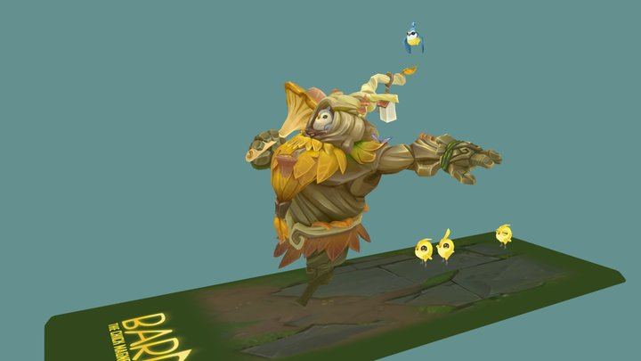 Bard the Chick Magnet 3D Model