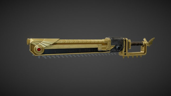 WH 40K Chainsword 3D Model