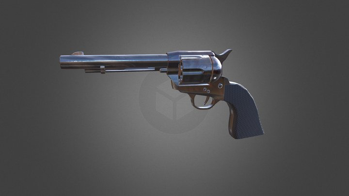 SAA Revolver: Base Black (Low poly) Update 3D Model