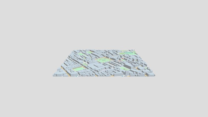 Russell Square 3D Model