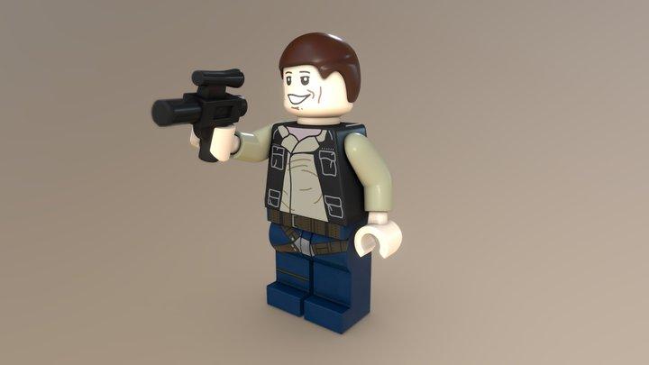 Han Solo Lego Minifig 3D Model