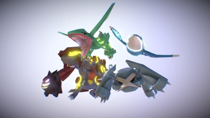 Pokémon Team 3D Model