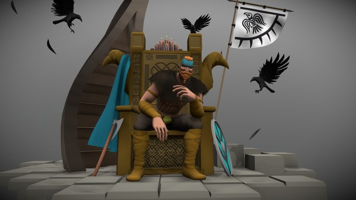 Throne of Taske, the Protector 3D Model