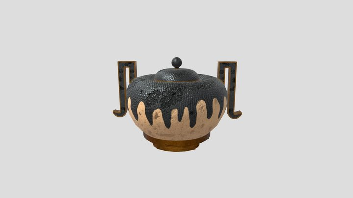 Chinese Jar - Museum Asset Deisgn Assignment 3D Model