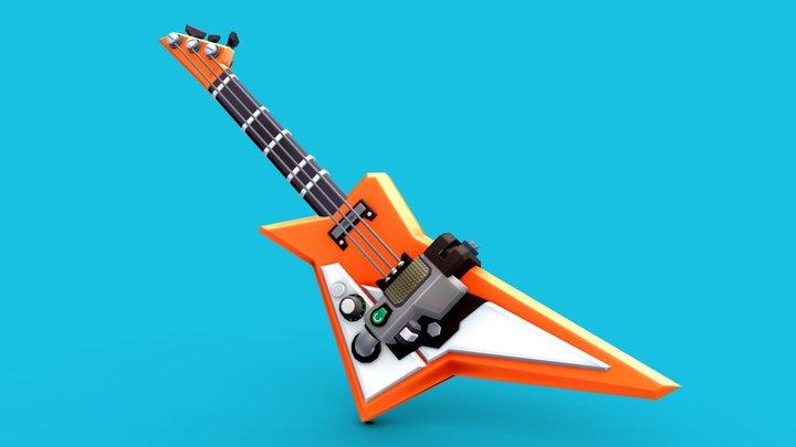 Stylized Guitar 3D Model