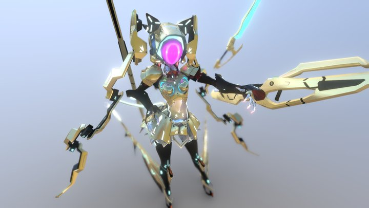 "Original VRChat Avatar ""Aureax"" 3D Model"