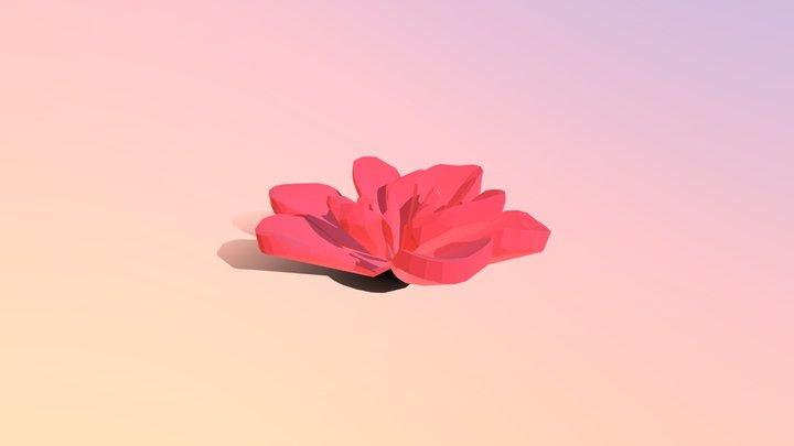 Low-poly Succulent 3D Model