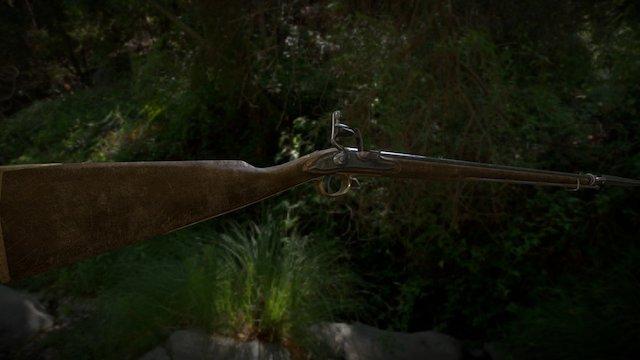 Musket Common 3D Model
