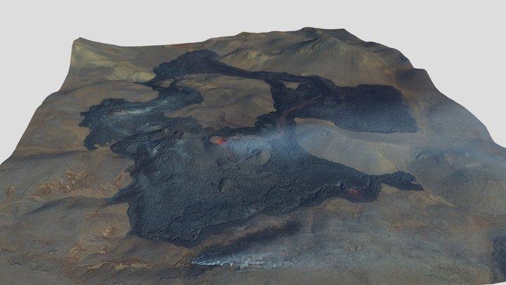 Fagradalsfjall volcanic eruption 03.05.2021 3D Model